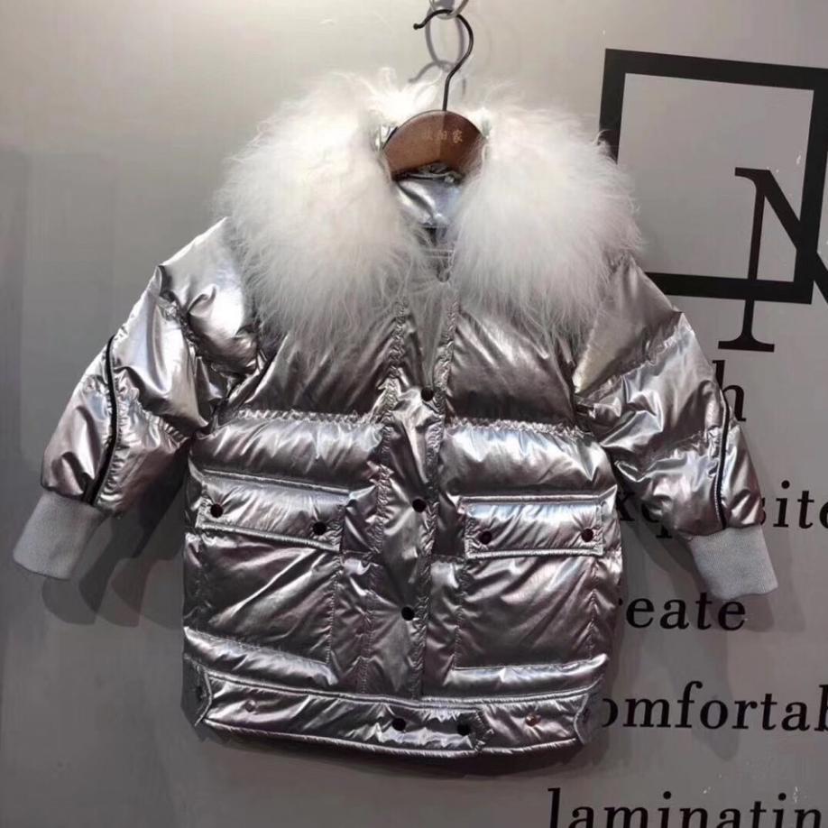 2019 New Winter Children Down Jacket thicker warm Mongolia sheep fur Collar Windproof Oversize Coat Modis Kids Down Jacket Y2235