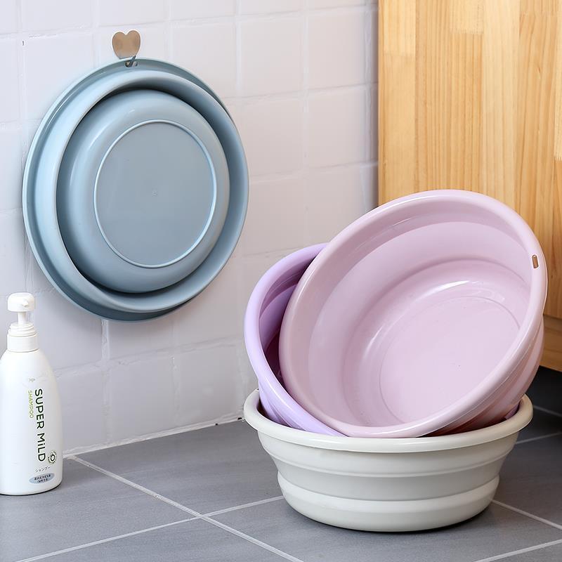 Lavabo plegable de plástico para el hogar, lavabos portátiles, accesorio de baño...