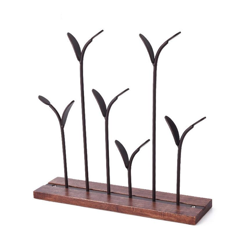 Купить с кэшбэком Little tree Jewelry Rack Earrings Necklace Ring Pendant Bracelet Jewelry Display Stand Tray Tree Storage Organizer Holder