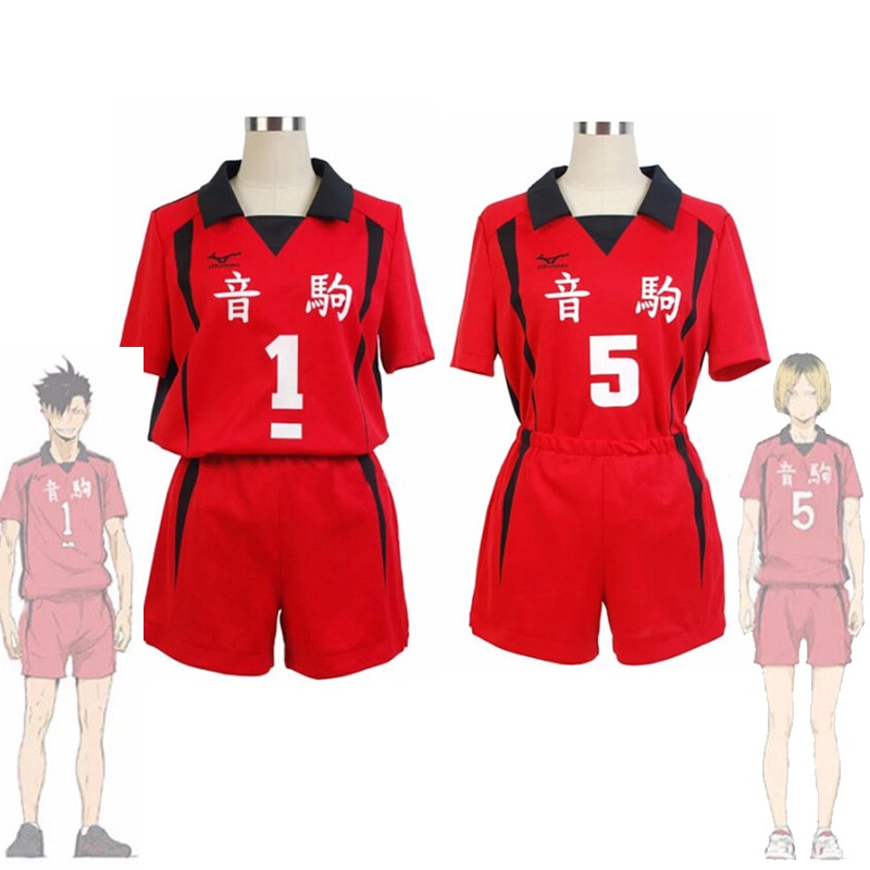 Haikyuu Nekoma High Uniform Tetsurou Kuroo Kozume Kenma Jersey Cosplay Costume Set Volleyball Team S