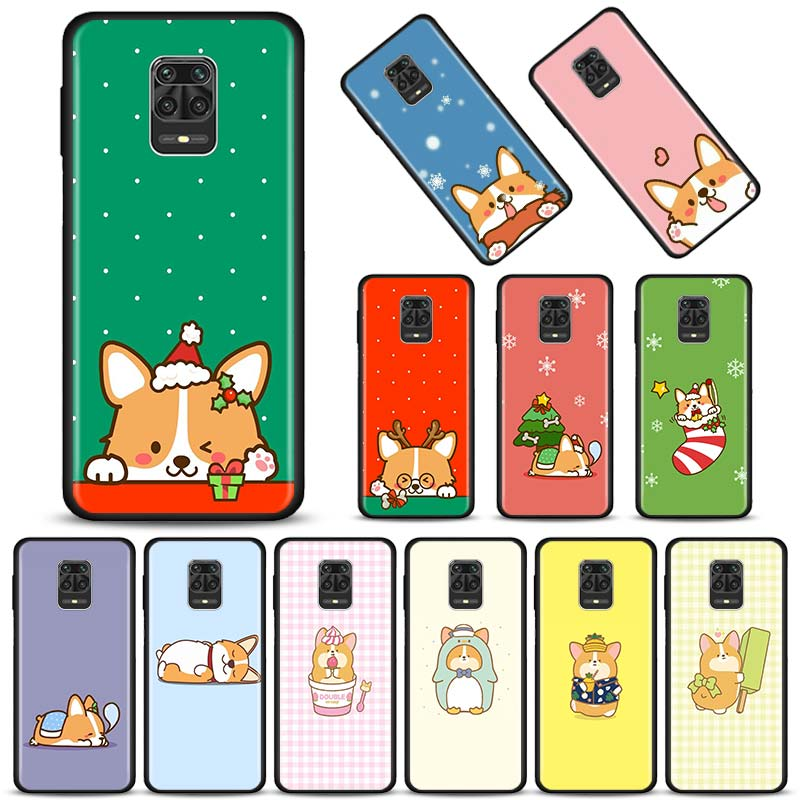 Corgi Pembroke perro funda de teléfono para Xiaomi Redmi 9 9A 9C 8 8A 7 7A 6 6A Nota 9S 9 8T 8 7 K30 Pro de silicona suave cubierta negro