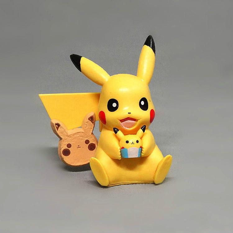 Figura de ação de pokemon, artesanato de pikachu com desenho animado, brinquedo para presente, enfeite de jardim, decoração de casa, acessórios