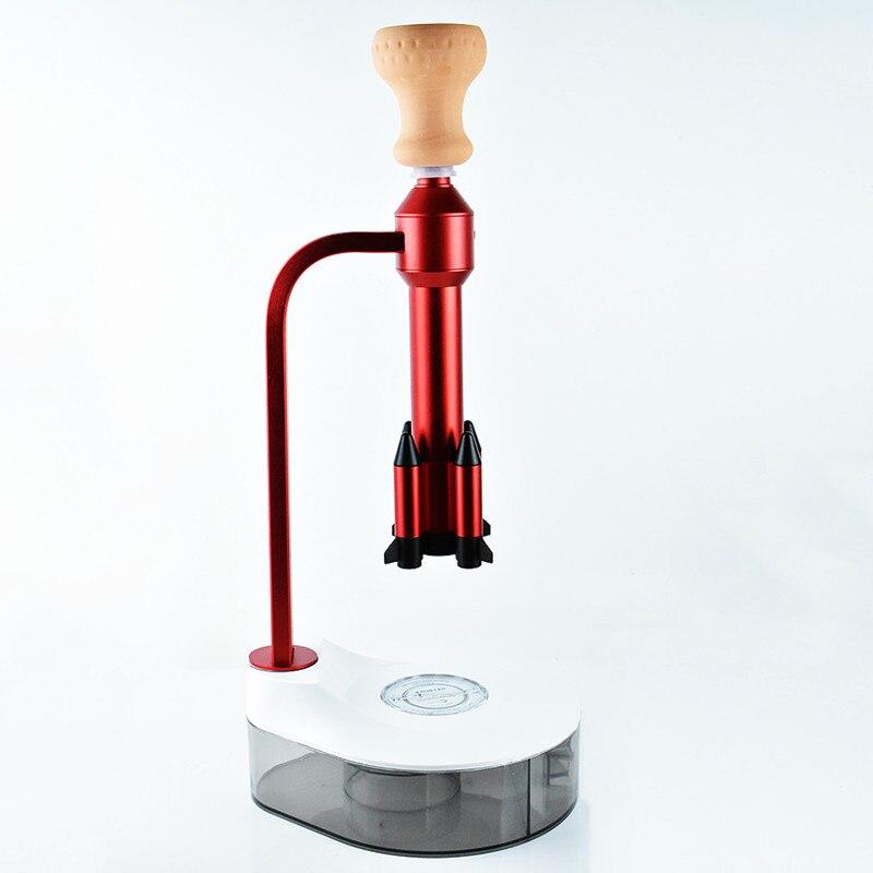 Ara Acrylic Hookah Shisha Set with LED Light Source Rocket Missile Shisha Narguile Chicha Cachimbas Water Pipe for Smoking enlarge