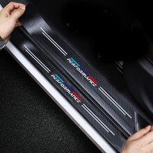 4 pcs couro Adesivo de Carro De Fibra De Carbono do Peitoril Da Porta de Proteção Adesivos Para BMW E46 E36 E34 F10 E90 F30 E60 F30 E53 E30 E92 E87