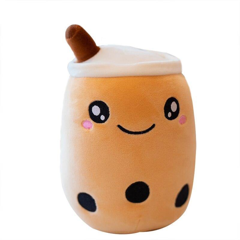 1 Uds. 25-70cm Fruta de dibujos animados taza de té de burbujas almohada de refresco de peluche manzana té de la leche cojín trasero regalos de comida rápida niños cumpleaños