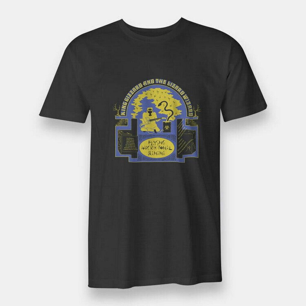 Nova banana rei gizzard o lagarto wizard camiseta masculina tamanho S-XXXL preto camiseta presente engraçado algodão