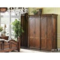 Home Furniture European Cabinet Closet Bedroom 4 Door Wardrobe Мебель для дома Европейский шкаф Шкаф Шкаф для спальни GF34.5