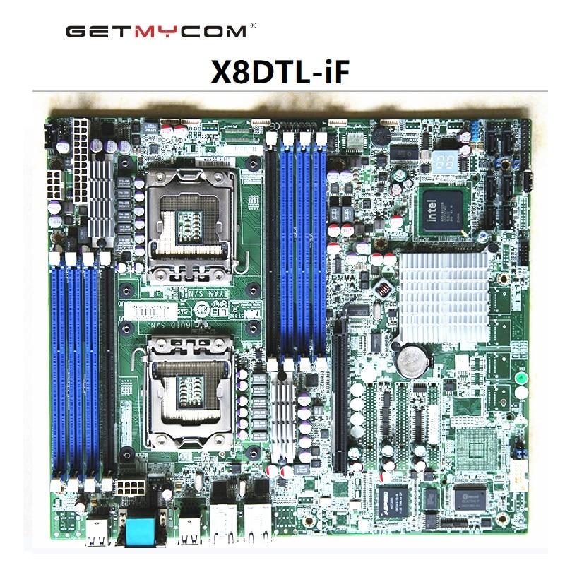 Getmycom الأصلي ل سوبرمايكرو X8DTL-iF الخادم الأصلي تستخدم اللوحة لعبة استوديو قبل شحنة اختبار