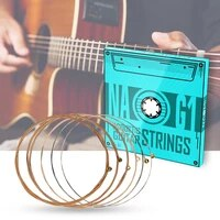 naomi soft acoustic guitar strings set hexagonal steel core phosphor bronze coating clear tone na g1