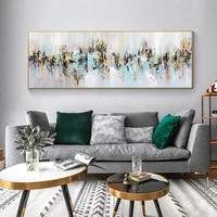 100 handpainted abstract oil painting on canvas wall art picture acrylic golden landscape painting for living room modern decor