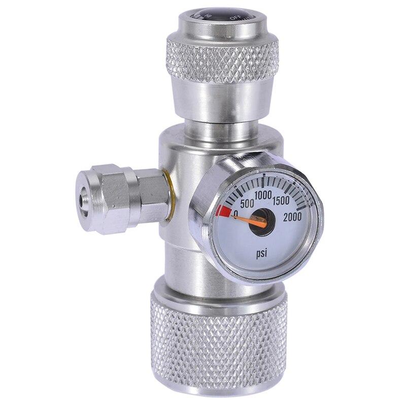 Aluminium Alloy CO2 Aquarium Moss Plant Fish Single Pressure Gauge Regulator Manometer Equipment Aquarium Accessories