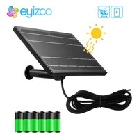 8w black mini solar panel powered for ip security camera wifi 18650 battery outdoor waterproof charger by usb 5v 12v 2a router