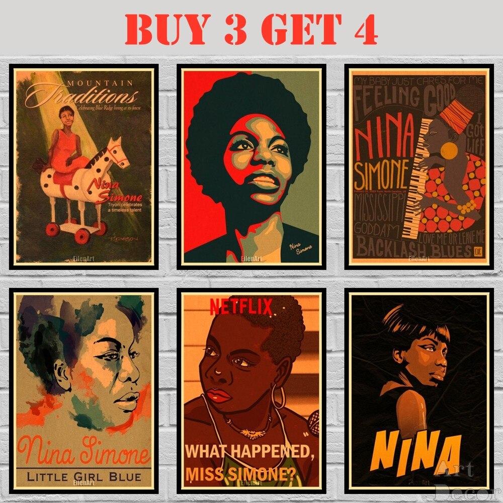 Poster en papier anna Simone kraft, étiquette murale Alternative, peinture abstraite, drôle, 42x30cm, 23 modèles