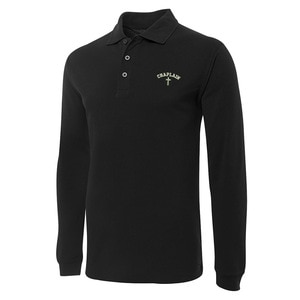Christain Chaplain Cross Embroidery Long Sleeve Polo Shirts Embroidered Mens Shirts