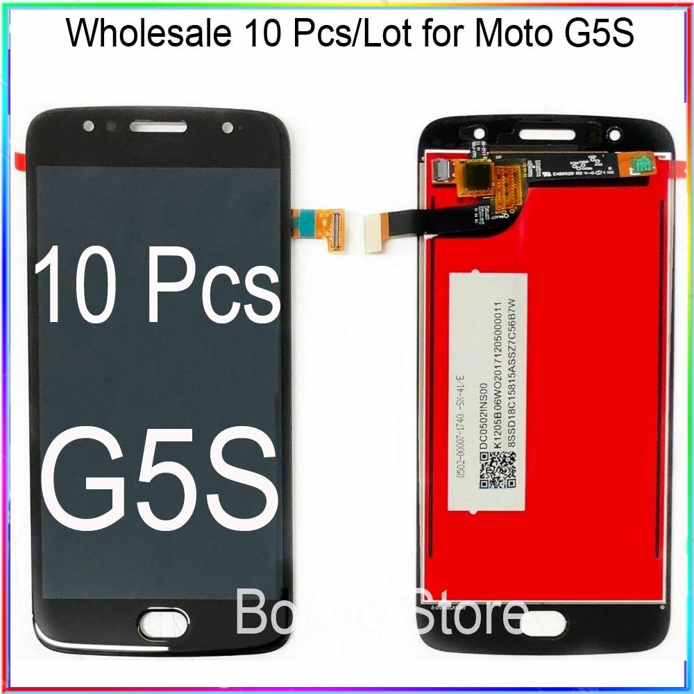 الجملة 10 قطعة/الوحدة ل موتو G5S شاشة LCD عرض مع اللمس محول الأرقام الجمعية XT1792 XT1793 XT1794