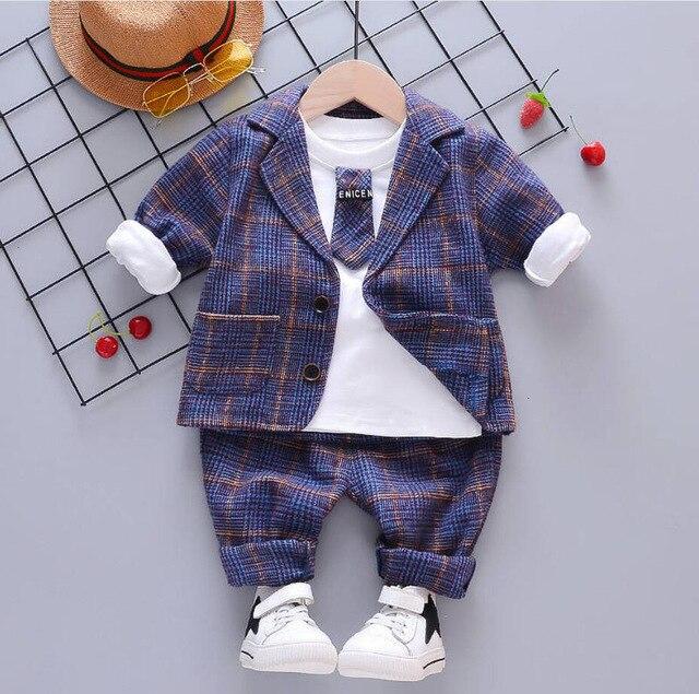 2 pçs/set 2020 12 meses 2 3 4 anos primavera roupas crianças menino roupas de bebê crianças casuais jaquetas algodão calças meninos roupas esportivas