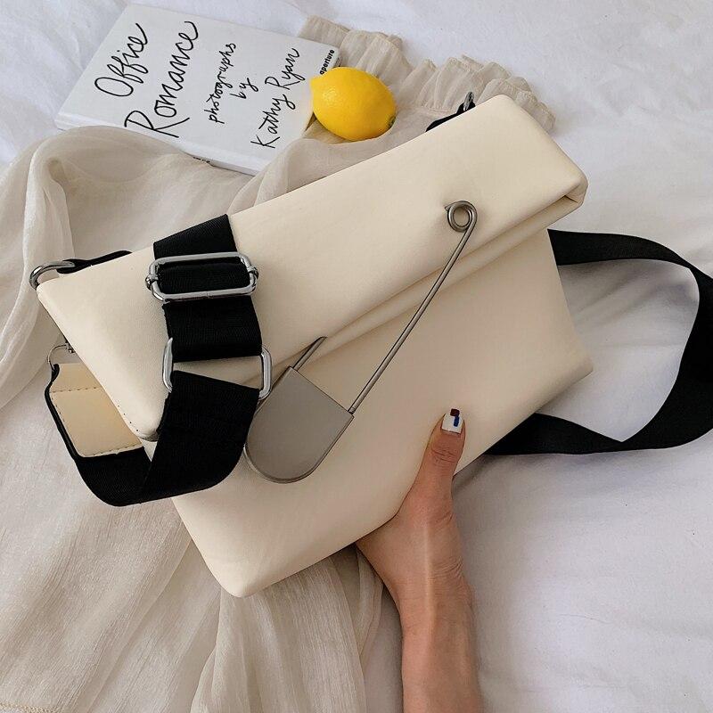 Elegant Female Casual Hand Bag 2021 Fashion New High Quality PU Leather Women's Designer Handbag Fold Shoulder Messenger Bag