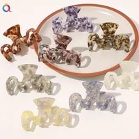 new acrylic acetate hair claws large size m shape bathing hair clips hairpin crab for women hair accessories hair styling tool