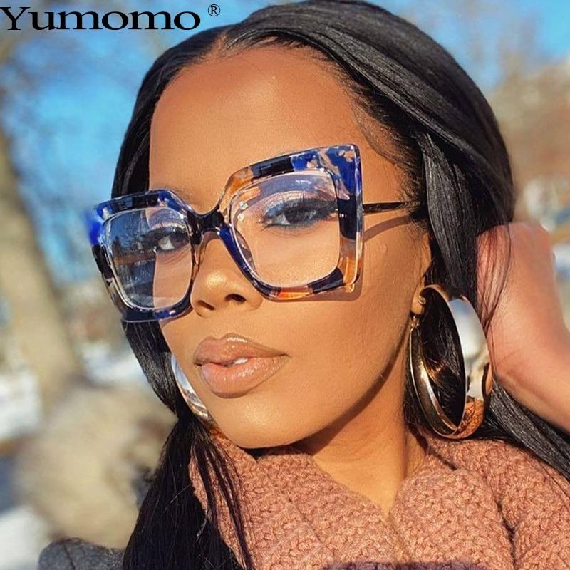 Vintage Transparent Square Glasses Women Men Clear Glasses Optical Eyeglasses Frame Lens Spectacle F
