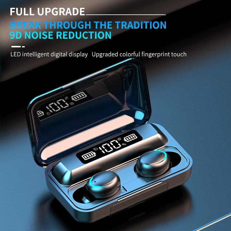 TWS Bluetooth 5.0 Earphones 2000mAh Charging Box Wireless Headphone 9D