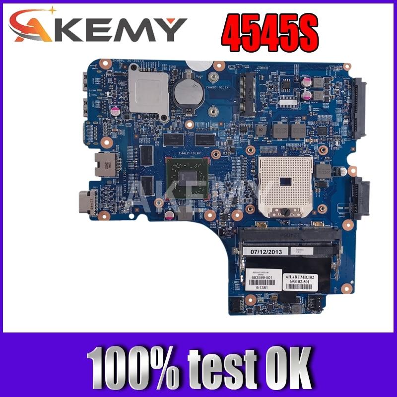 AKemy материнская плата для ноутбука HP Probook 4445S 4545S 4446S PC материнская плата 683599-001 683599-601 48.4SM01.011 full tesed DDR3