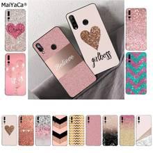 MaiYaCa Golden Pink Glitter Coque Shell Phone Case for Huawei P9 10 lite P20 pro lite P30 pro lite Psmart mate 20 pro lite