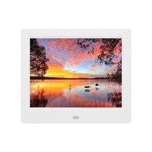 8 pouces cadre Photo numérique 43 affichage cadre Photo Album MP3 musique MP4 vidéo Auto lecteur calendrier horloge cadeau blanc