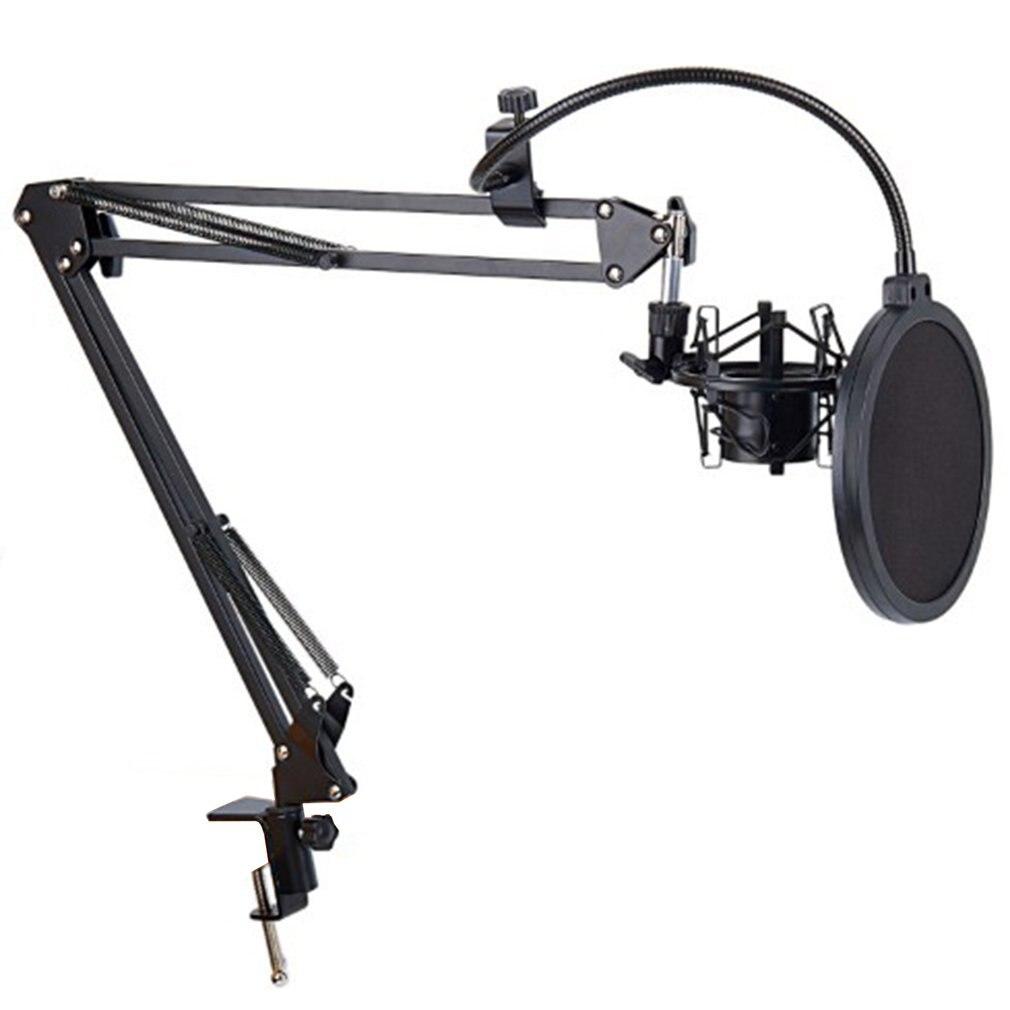 Soporte de micrófono de escritorio, soporte de Clip para trípode, soporte de micrófono voladizo, soporte de micrófono Universal de montaje en Choque