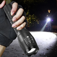 Ultra Bright Led Flashlight Torch T6/L2 5 Switch Modes Waterproof Zoomable 18650 Battery Rechargeable Flashlight Camping Light