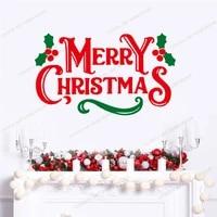 merry christmas shop door window festival sticker glass wall home decor removable wallpoof santa gift nursery interior cx698