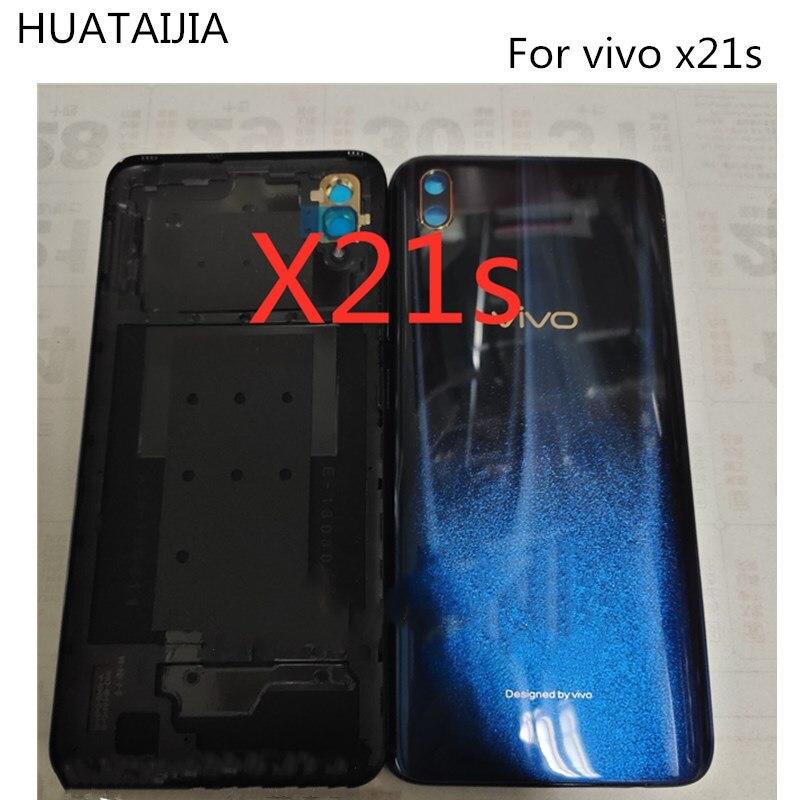 Nuevo 6,4 pulgadas para BBK Vivo x21s 1804 carcasa trasera para batería puerta vivo x21s funda carcasa trasera partes vivo x21s batería trasera de vidrio de caso