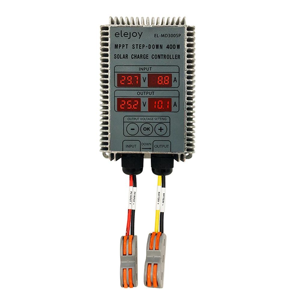 200 واط/300 واط/400 واط MPPT تنحى في الوقت الحقيقي تتبع البطارية الشمسية إعادة شحن تحكم LED عرض 10 ~ 30 فولت الناتج الجهد