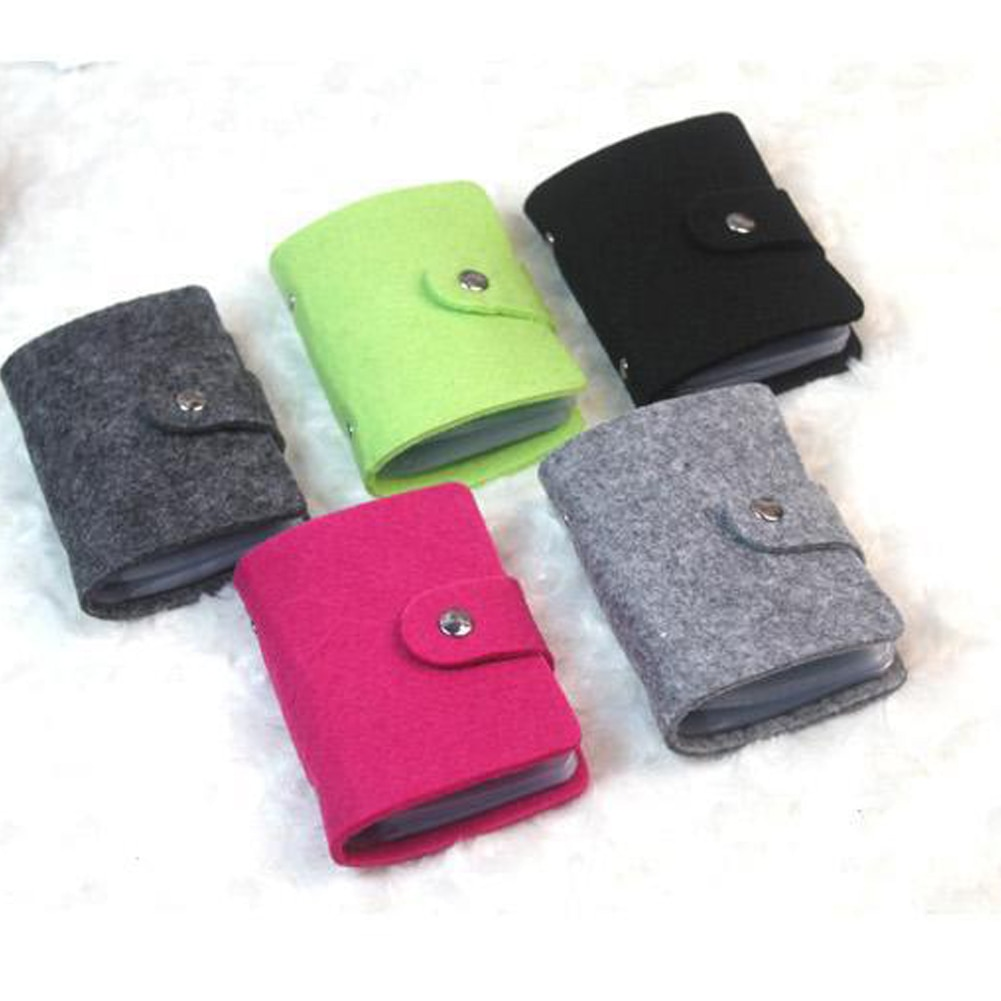 New Fashion Felt Function 24 Bits Card Case Business Card Holder Men Women Credit Passport Card Bag ID Passport Card Wallet fashion genuine leather function card case business card holder men women credit passport card bag id passport card wallet
