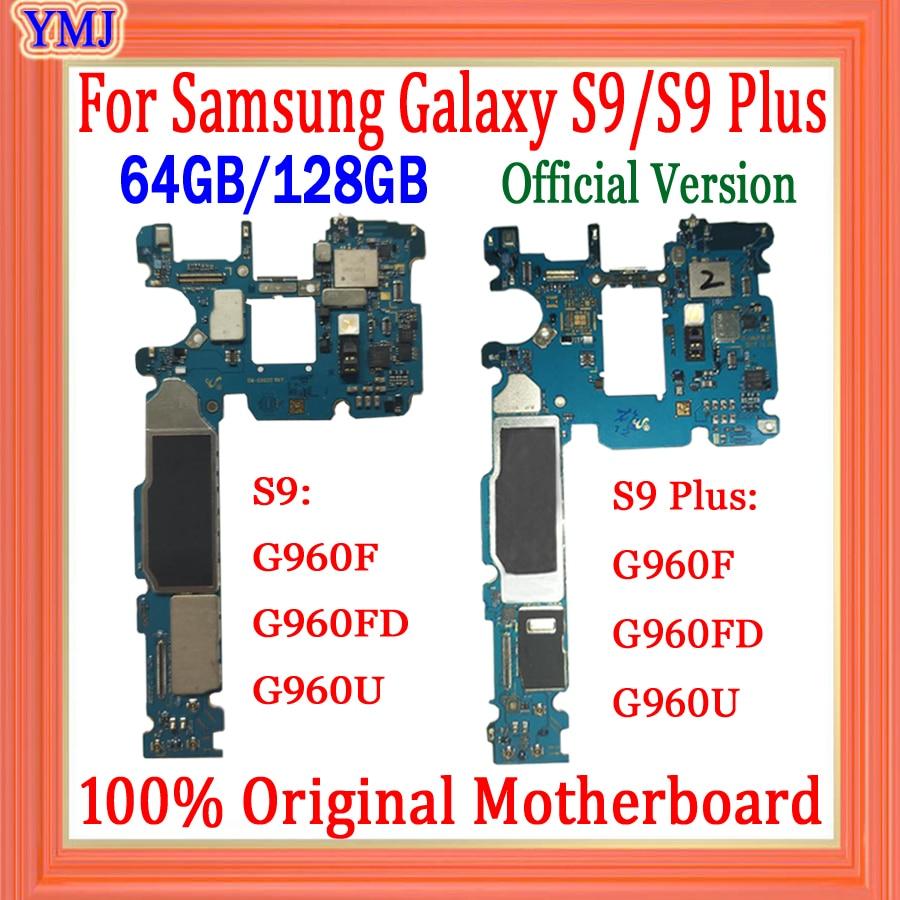 لسامسونج غالاكسي S9 زائد اللوحة G965F G960F G965U G960U G965FD G960FD اللوحة الأم الأصلي مقفلة اللوحة الرئيسية رقائق كاملة