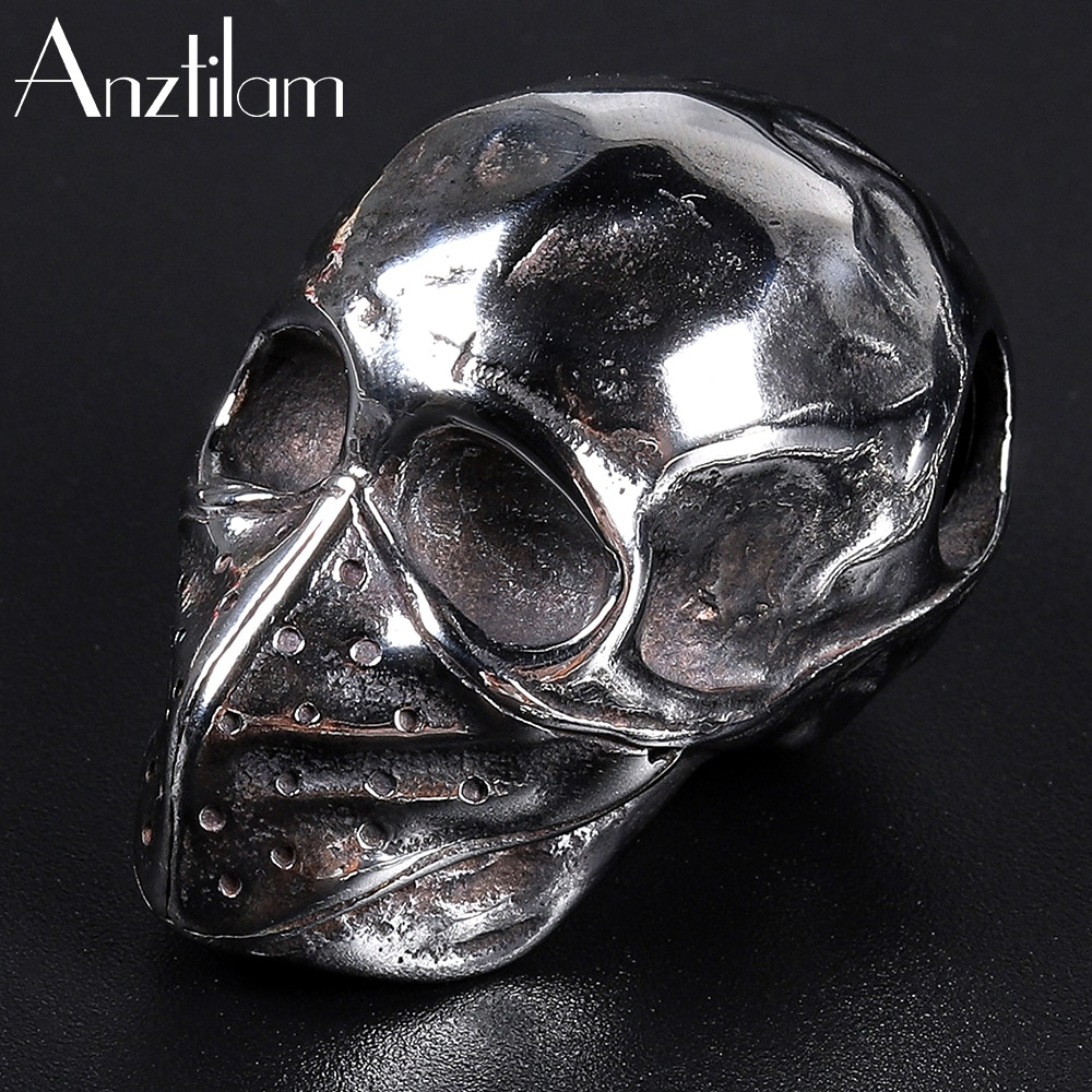 Retro Hip Hop 316LStainless Steel Mask Skull Pendants For Men and Women Couples Punk Necklace Goth J