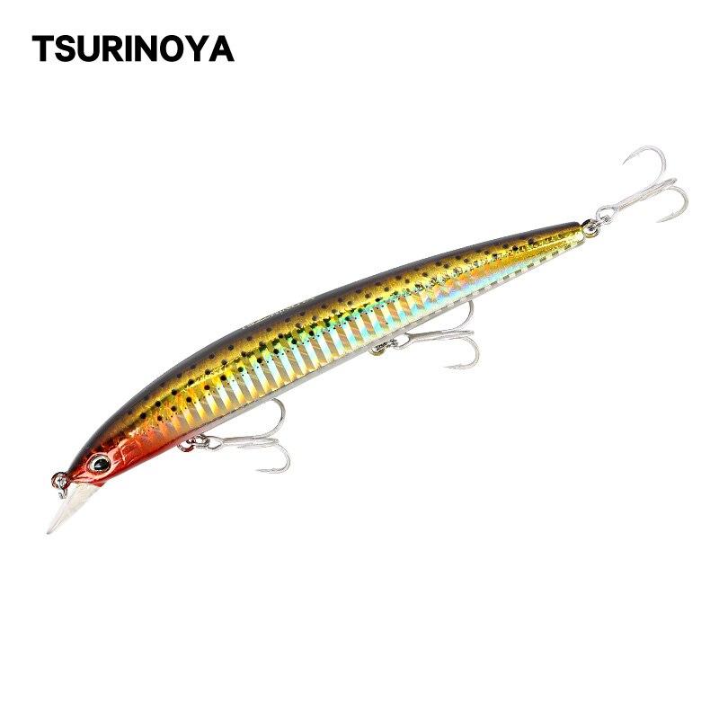 TSURINOYA Fishing Lure DW31 Floating Minnow Jerkbait Hard Lure 129mm 14.8g Long Shot Sea Bass Lure Swimbait Wobblers Crankbait