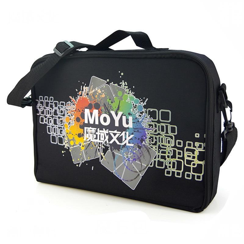 Moyu bolso del cubo 36*25*7,5 cm de tamaño, bolsas de hombro negro para rompecabezas Cubo de 1x1 2x2 3x3 4x4x3 4x4 5x5 6x6 y 7x7 8x8x9 juguetes de todas las capas 9 10x10