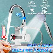 3000W Tankless Water Heater Faucet 3S Fast Heating With Shower Head Instant Hot Water Electric Tap f