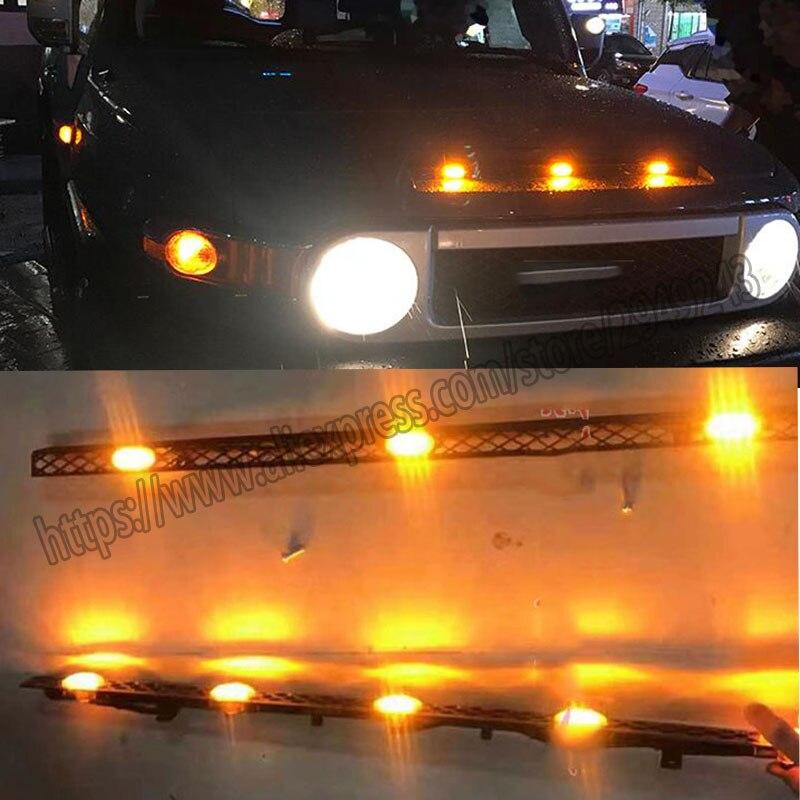 مصباح أمامي LED للشبك لسيارات Toyota FJ Cruiser 2007-2014