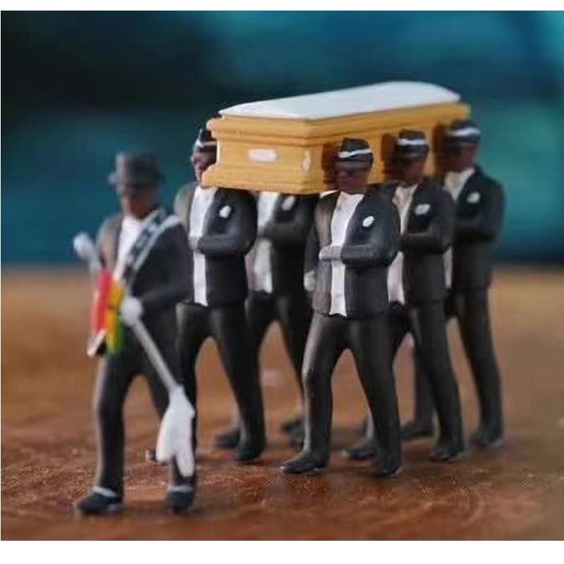 Cosplay Ghana baile Pallbearers ataúd danza figura acción fúnebre baile equipo hecho modelo Juguetes