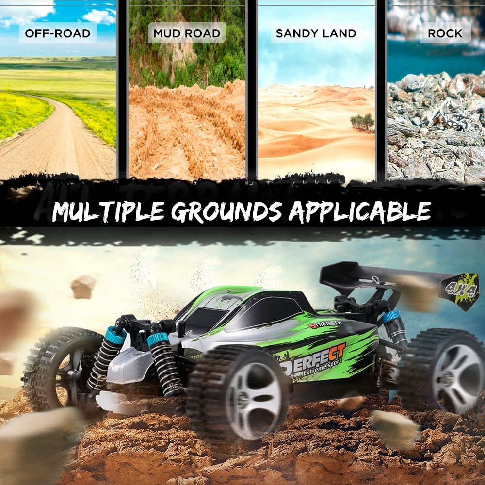 WLStoys A959-B A959-A 1:18 2.4GHz 4WD RC Car 70KM/H High Speed RC Racing Car Electric Remote Control Vehicle Off-Road Car Toys enlarge