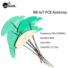 NB-IoT para antena interna para circuito impreso 2G 3G 4G LTE IPEX antena IPX U FL interfaz RG1.13 7cm cable 5dbi de alta ganancia de 700-2700MHz