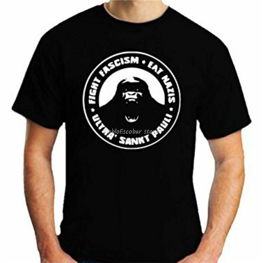 Camiseta St Pauli Eats Nazis, Ultra, Fanshirt, Punk, fútbol de talla S a 3Xl, camiseta gráfica Vintage para hombres, camiseta de verano