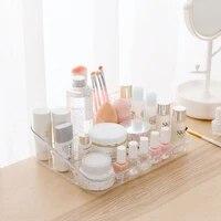transparent makeup organizer cosmetic storage box nail polish lipstick organizer desktop storage case container