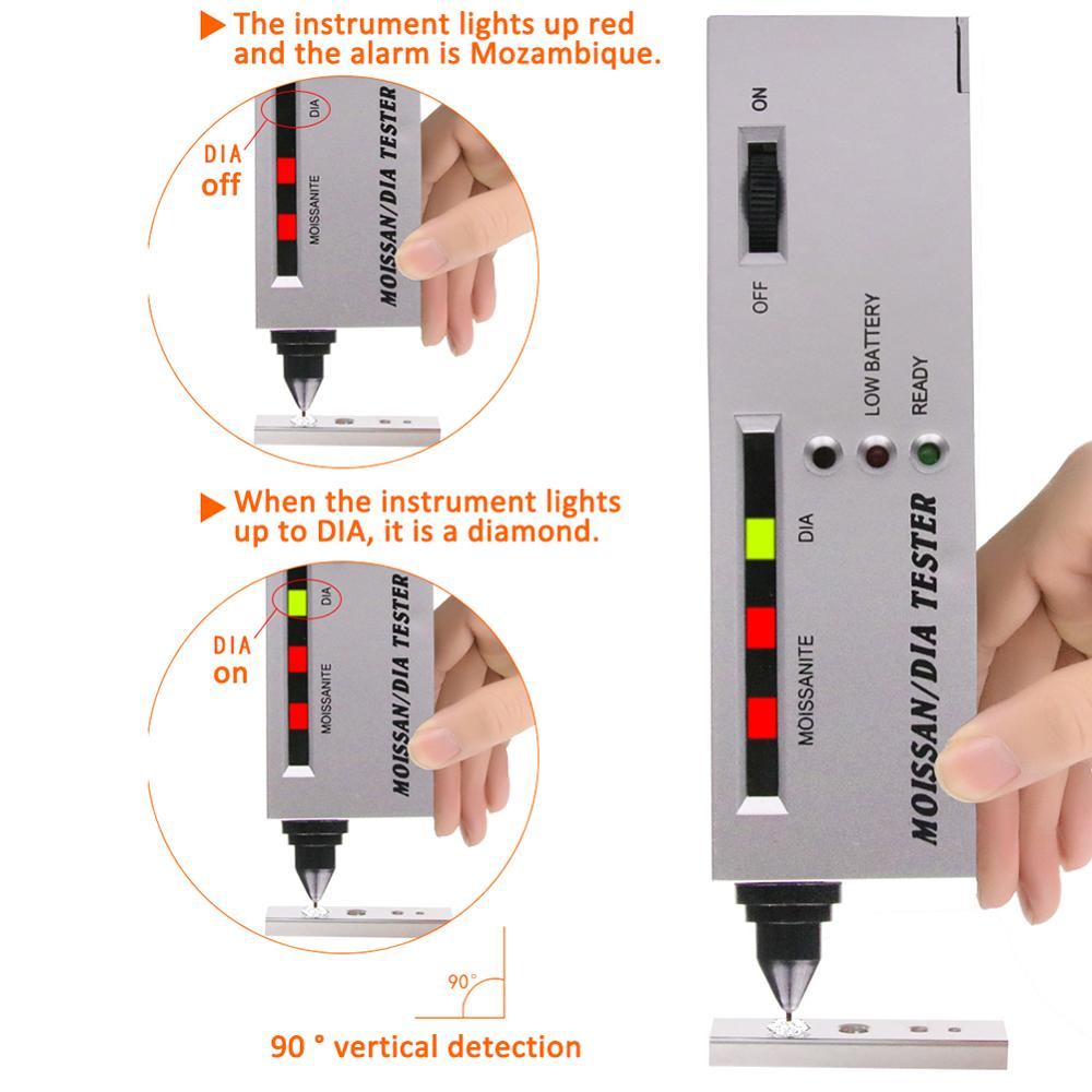 Outils de bijoux professionnels diamant sélecteur LED Moissanite testeur haute précision détecteur stylo