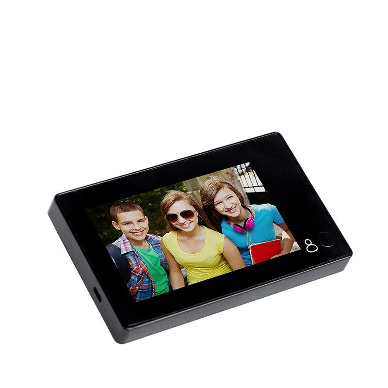 1080P Peephole Door Camera 4.3 Inch Color Screen With Door Bell LED Lights Electronic Doorbell Viewer Security  M4300B enlarge