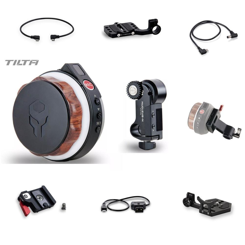 Núcleo Tilta-Nano, accesorio inalámbrico del Motor de seguimiento, cable de alimentación de la rueda de mano 15mm, adaptador fr ROIN S 18650, paquete de batería