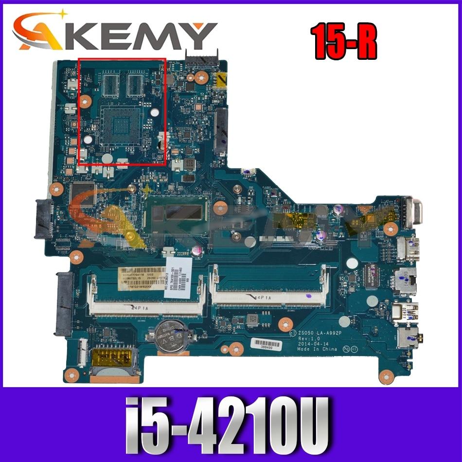 761535-501 ل HP بافيليون 15-R LA-A992P 761535-001 SR1EF i5-4210U DDR3 دفتر اللوحة الرئيسية اختبار كامل 100% العمل