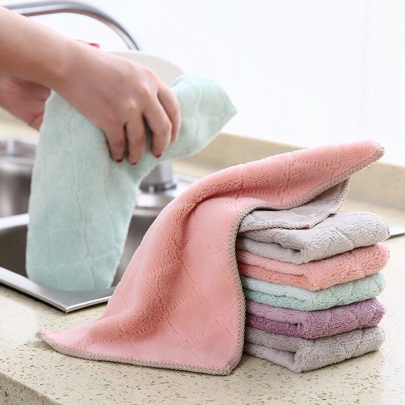Cocina plato de tela toallas absorbentes paños