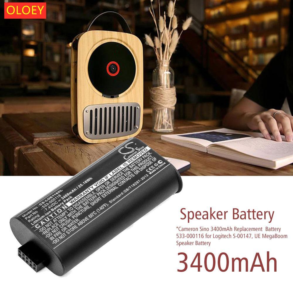 CameronSino se aplica Logitech UE MegaBoom S-00147 de audio Bluetooth batería 533-000116